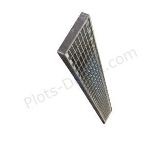 Grille caillebotis acier galvanise 10 x 100 x 2 cm profil Plots-Direct.com