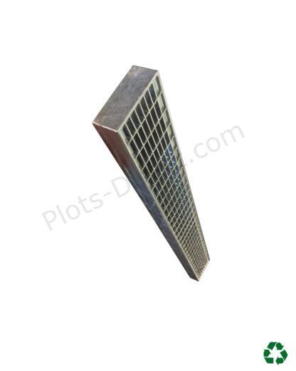 Grille caillebotis acier galvanise 10 x 100 x 4 cm profil Plots-Direct.com