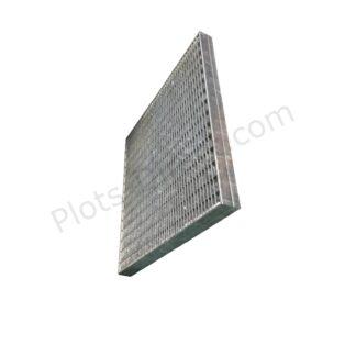 Grille caillebotis acier galvanise 50 x 50 x 4 cm profil Plots-Direct.com