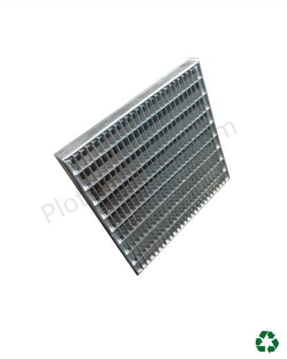 Grille caillebotis acier galvanise 60 x 60 x 2 cm profil Plots-Direct.com