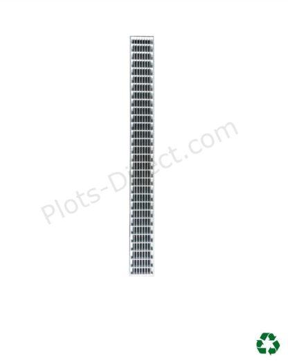 Grille caillebotis acier galvanise caniveau Plots-Direct.com